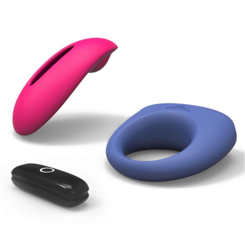 Wibrujący korek analny aluminiowy - Diogol Annixitting Vibrating Butt Plug Red 34 mm Czerwony